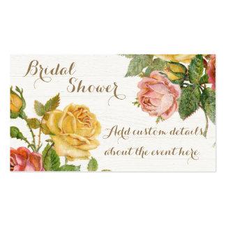 Chá de panela floral do primavera do lavagem cartão de visita