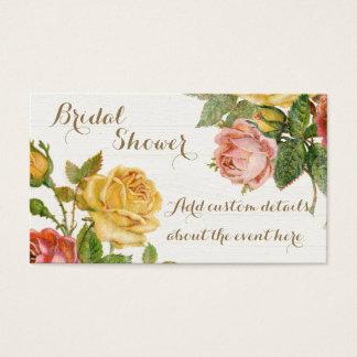 Chá de panela floral do primavera do lavagem cartão de visitas