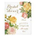 Chá de panela floral do primavera do lavagem panfleto personalizado