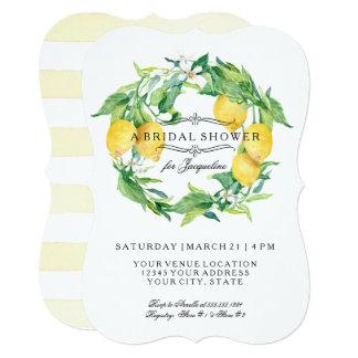 Chá de panela floral do suporte do citrino do convite 12.7 x 17.78cm