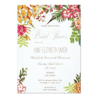 Chá de panela floral do verão convite 12.7 x 17.78cm