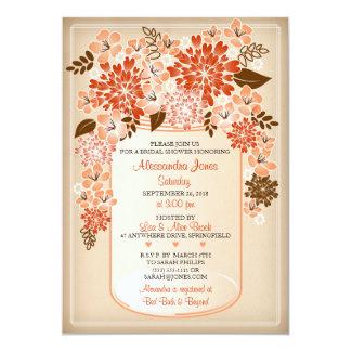 Chá de panela floral rústico 2 do pergaminho do convite 12.7 x 17.78cm