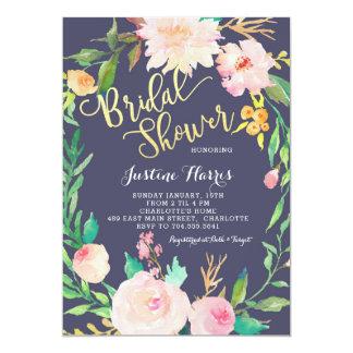 Chá de panela, flores azuis, convite do ouro