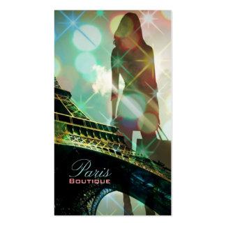 Chá de panela moderno de Paris da torre Eiffel Cartão De Visita