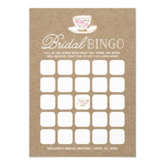 Chá de panela moderno rústico do Bingo | do tea Convite 12.7 X 17.78cm