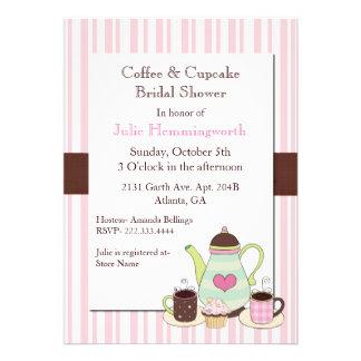Chá de panela na moda do café convite personalizado
