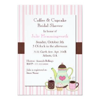 Chá de panela na moda do café convite 12.7 x 17.78cm