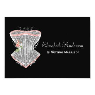 Chá de panela pessoal da lingerie do espartilho do convite 12.7 x 17.78cm