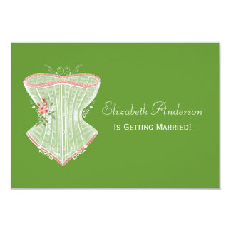 Chá de panela pessoal da lingerie do espartilho do convite 8.89 x 12.7cm