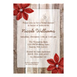 Chá de panela rústico da madeira do celeiro da convites personalizados