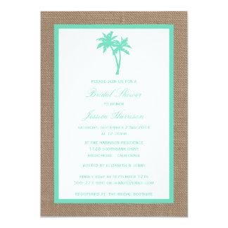 Chá de panela tropical da praia de serapilheira da convite 12.7 x 17.78cm