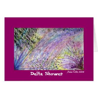 Chá do delta cartão comemorativo
