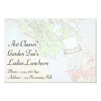 Chá do jardim do almoço das senhoras das classes convite personalizado