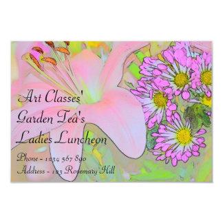 Chá do jardim do almoço das senhoras das classes convites personalizados