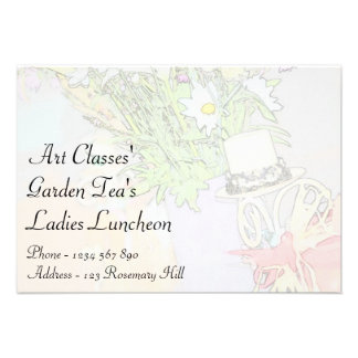Chá do jardim do almoço das senhoras das classes d convite personalizado