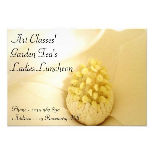Chá do jardim do almoço das senhoras das classes d convites personalizado
