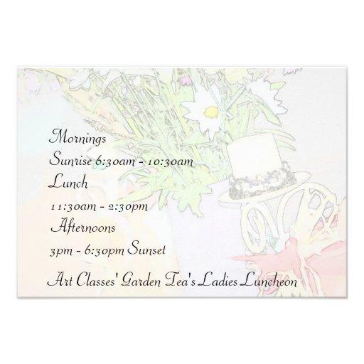 Chá do jardim do almoço das senhoras das classes d convites personalizados