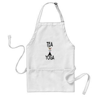 Chá e ioga avental