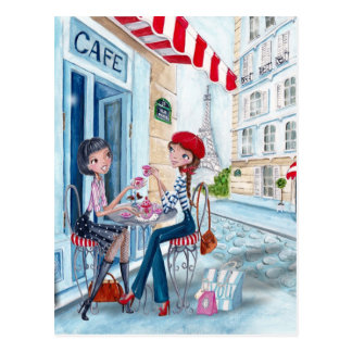 Chá em Paris - cartão