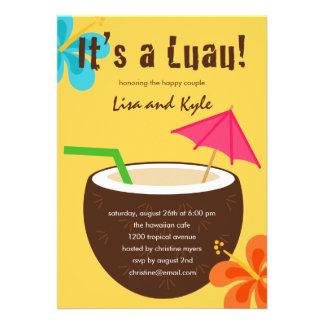 Chá ou festa de noivado de Luau Convites Personalizado