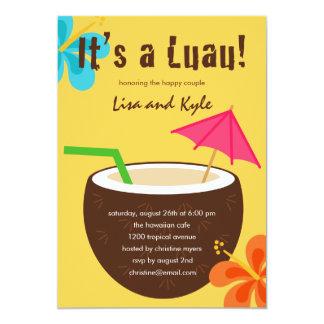 Chá ou festa de noivado de Luau Convite 12.7 X 17.78cm