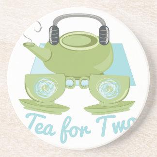 Chá para dois porta-copos de arenito