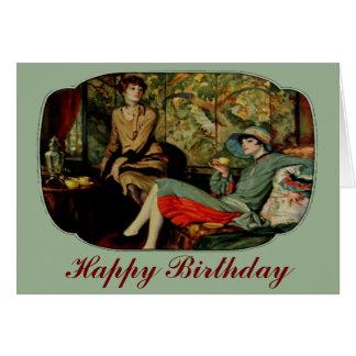 Chá para o cartão de aniversário dos dois anos 20