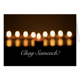 Chag Sameach! Cartão das luzes