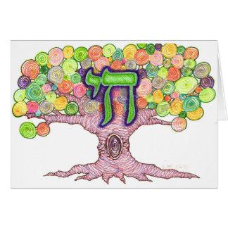 Chai, árvore de cartões de nota da vida