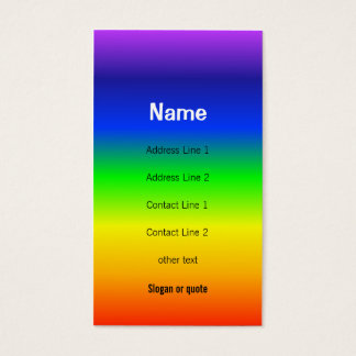 Chakra colore o cartão de visita do arco-íris