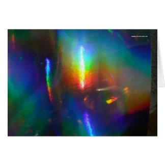 Chama holográfica cartão