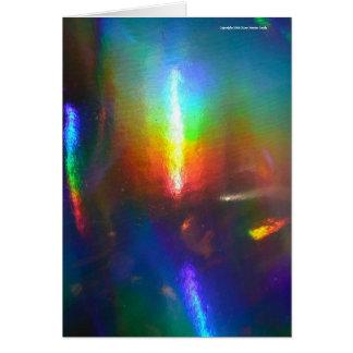 Chama holográfica cartão comemorativo