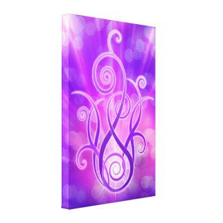 Chama violeta/fogo violeta impressão de canvas esticadas