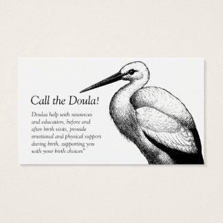 Chamada da cegonha os cartões de visitas de Doula