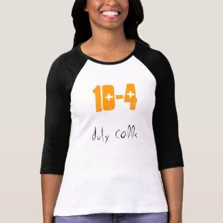 Chamadas do dever camisetas