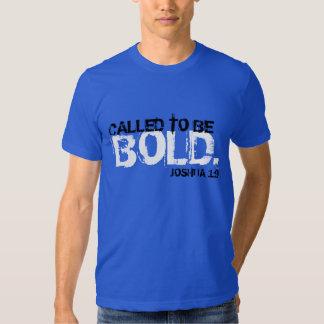 chamado para ser t-shirt corajoso do verso da