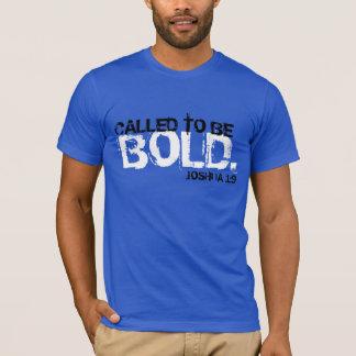 chamado para ser t-shirt corajoso do verso da camiseta