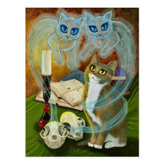 Chamando velhos amigos, cartão da arte do gato do