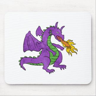 chamas de jogo do dragão roxo mouse pad