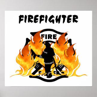 Chamas do departamento do fogo impressão