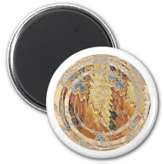 Chamas do ouro do brilho de Sun Ímã Redondo 5.08cm