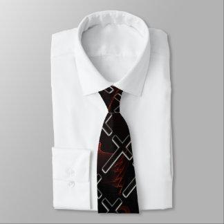 Chamas transversais cristãs gravata