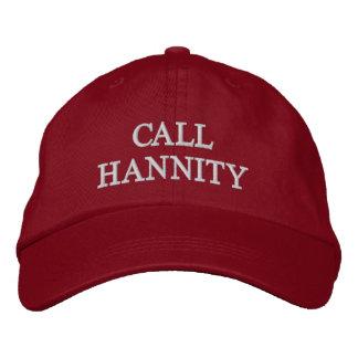 Chame Hannity chapéu ajustável Boné Bordado