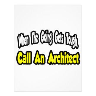 Chame um arquiteto panfletos coloridos