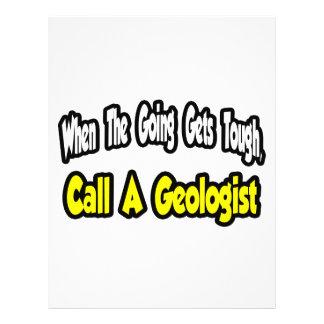 Chame um geólogo panfletos personalizados