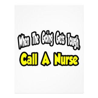 Chame uma enfermeira panfletos