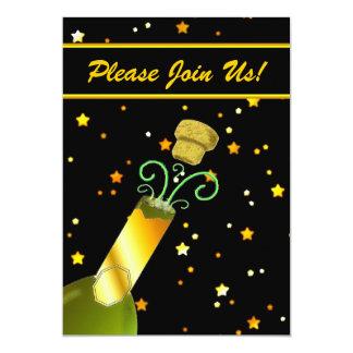Champagne & convite de festas do ano novo das