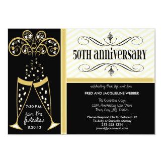 Champagne & convites do aniversário de Chevron