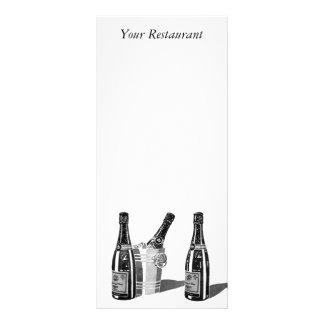Champagne e menu do balde de gelo 10.16 x 22.86cm panfleto