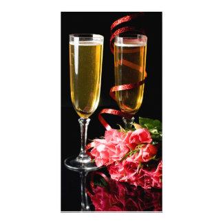 champanhe dobre cartão com fotos